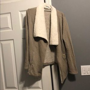 Cream and Brown Soft Sweater
